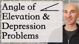 Angle Of Elevation And Depression Problems