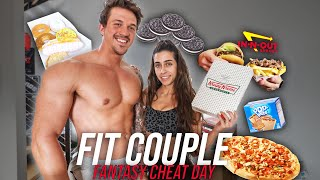 WE ATE EVERYTHING WE WANTED FOR 1 DAY! | FANTASY FIT COUPLES CHEAT DAY