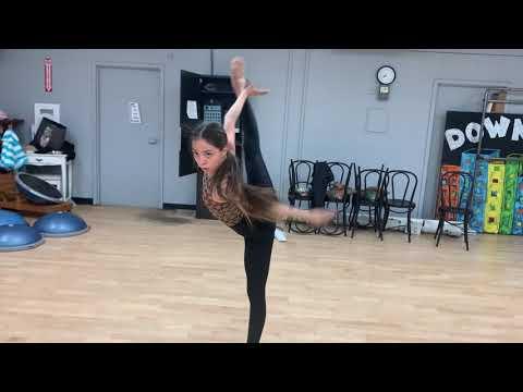 Jazz dance I choreographed on one of my students.