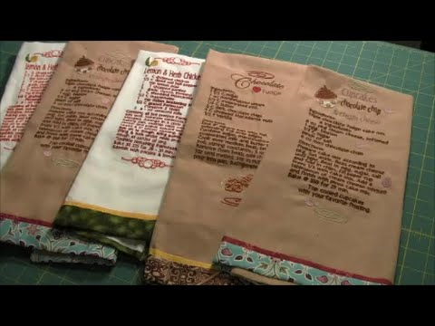 Machine Embroidery Recipe Towels