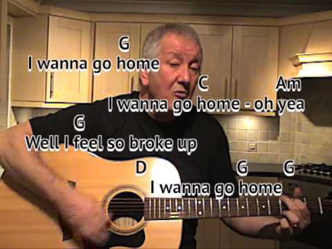 Sloop John B - Beach Boys - cover - easy chords guitar lesson with on-screen chords and lyrics