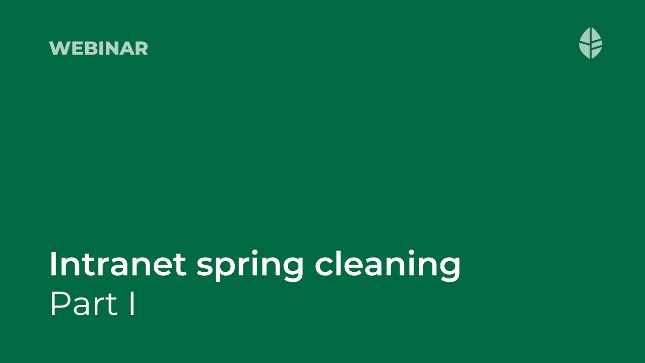 Intranet spring cleaning part II: (re)introduce your intranet content guide Video Thumbnail