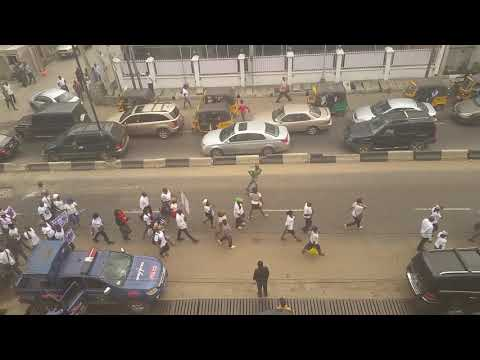 Watch Catholics Protest about the Nigeria Government in Toyin Ikeja