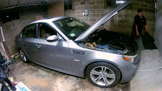 2007 BMW M5 (E60)   This H&R Springs install was easier than I thought.