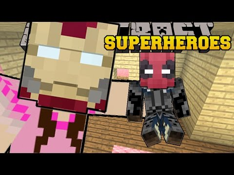 Minecraft: SUPERHEROES (BECOME EPIC HEROES & VILLAINS WITH POWERS!) Mod Showcase