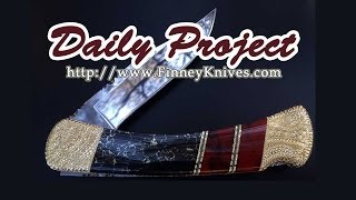 Pocket Knife Daily Project - Buck 110 With Aztec Gold And Bloody Basin Jasper