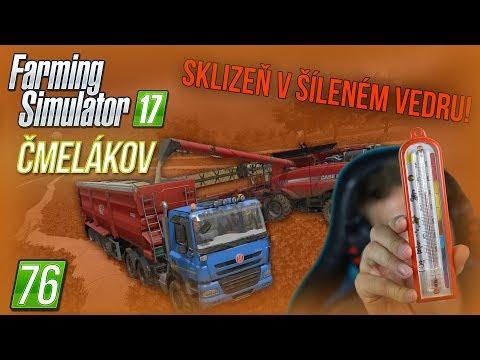 SKLIZEŇ V ŠÍLENÉM VEDRU! | Farming Simulator 17 #76