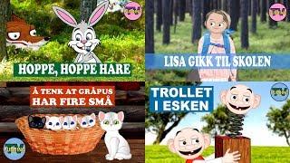 Barnesanger på norsk - Hoppe, hoppe hare og mye mer!