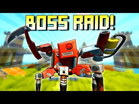 High Tier Raids! Will My Base Hold Up?  - Scrap Mechanic Survival Mode [SMS 52]