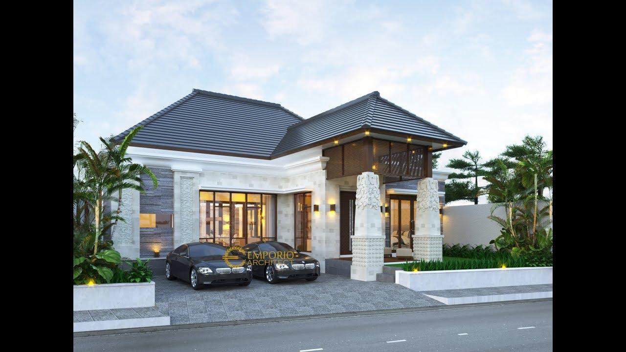 Video 3D Desain Rumah Villa Bali 1 Lantai Ibu Ponky di Malang