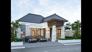Video Desain Rumah Villa Bali 1 Lantai Ibu Pongky di  Malang