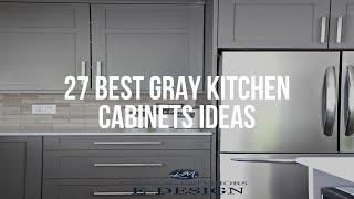 🔴 27 Best GRAY KITCHEN CABINETS Ideas