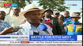 Kitili Mwendwa speaks about the ongoing Wiper nominations for Kitui West parliamentary seat