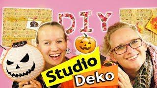 HERBST ZIMMER DEKO IDEEN DIY Studio umgestalten mit Eva & Kathi (TEIL 2) Süße Herbst Bastelideen