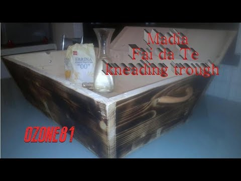 Madia in Legno Fai da Te - kneading trough