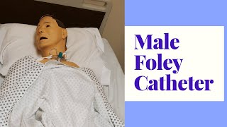 INSERTING A FOLEY CATHETER ON A MALE PATIENT/SKILL DEMO