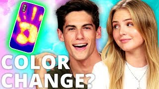 DIY COLOR CHANGING Phone Case?! Di Dare w/ Joey & Bailey from Malibu Surf