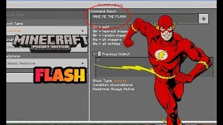 [MCPE] How to become the Flash/speedster !( Command Block Creation )( NO MODS )