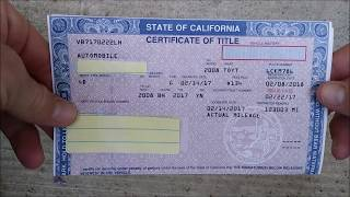 How to fill out a pink slip when buying or selling a car UPDATED!!!