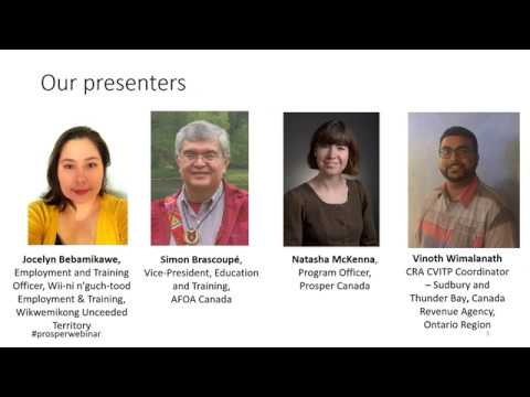 Webinar training: Planning a successful community tax clinic in Indigenous communities (Part 1)