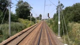 preview picture of video 'Strzelce Opolskie - Gliwice z tyłu pociagu INTER Regio Piast'