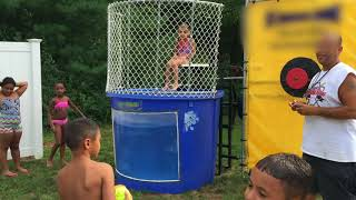 Boys Dunk Girls In The Tank Who Is Better Boys Or Girls? | Dunk Tank Challenge
