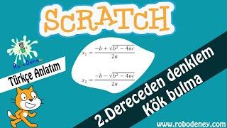 Scratch 3 ile 2. Dereceden denklemler