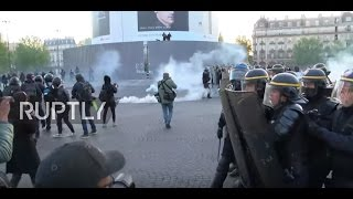 France: Protesters clash with police in Paris following presidential election results