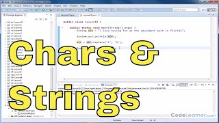 Java Tutorial - 18 - Replacing Characters in a String