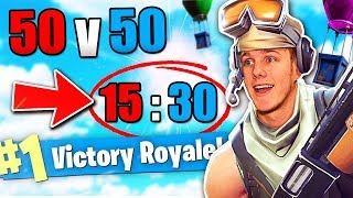 The Biggest Comeback in 50v50? (Fortnite Battle Royale)