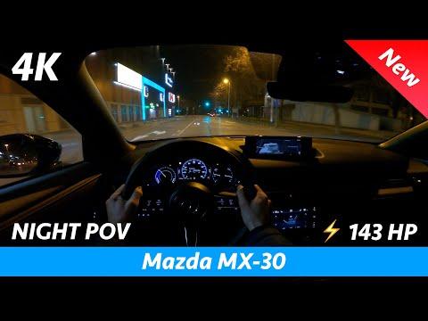 Mazda MX-30 2021 - Night POV test drive & FULL review in 4K | LED Headlights test, range, 0 - 100