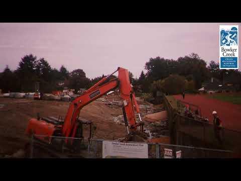 Time Lapse of Bowker Creek Reconstruction