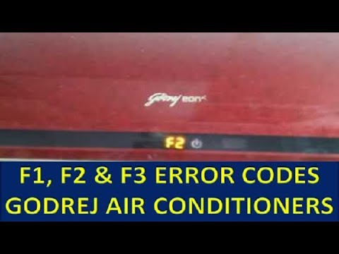 Godrej split AC how fix error code E1 E2 E3 E4 E0 F1 F2