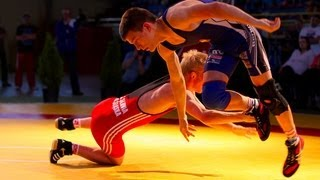 preview picture of video 'National Poland Youth Olympic Games Wrestling Freestyle day two Zgierz july 2013'
