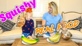 EXTREME SQUISHY FOOD VS REAL FOOD!!! (Kids vs. Adults)