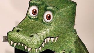 Video kaarten met optische Illusies, Ongelofelijke T-rex Illusie camer draait er omheen