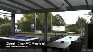 Ziptrak Motorised Clear PVC Awnings