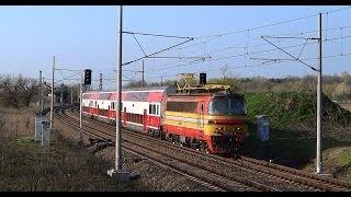 preview picture of video 'Electric loco 240 Laminátka in retrolivery (ZSSK 240.145) @ Os 2031 - Devínske jazero, Bratislava'