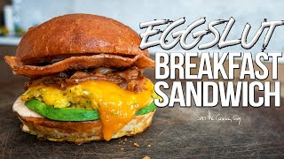 The Ultimate Breakfast Sandwich - Homemade Eggslut Recipe | SAM THE COOKING GUY 4K