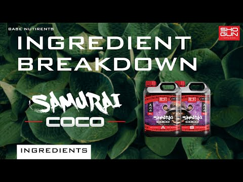 Ingredients Breakdown SHOGUN Samurai Coco - Base Nutrient