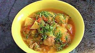 Овощное рагу с курицей./Как приготовить овощное рагу./ Рецепт рагу с мясом.