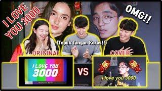 [KOREA REAKSI] I Love You 3000 (Stephanie Poetri & Reza Darmawangsa) | Original & Cover | Reaction