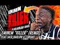 EMINEM IS BACK! | Eminem - Killer (Remix) [Official Audio] ft. Jack Harlow, Cordae (REACTION)