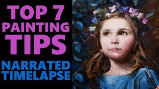 Top 7 Tips For Painting Portraits In Oils - Narrated Time Lapse - Morgan Weistling Copy!