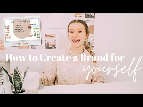 How to Create a Brand for Yourself | rebranding, style guide, websites, etc.