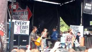 """Every Time I Die """"The New Black"""" Live @ Warped Tour Pittsburgh 7-7-10"""