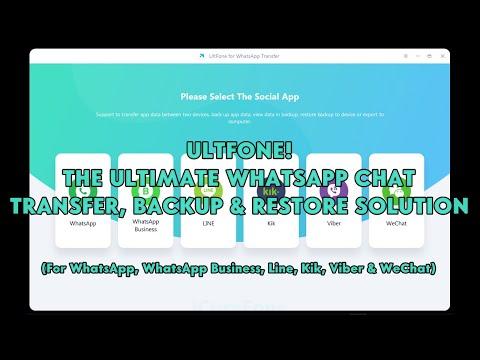 UltFone! The Ultimate WhatsApp Chat Transfer, Backup & Restore Solution - [romshillzz]