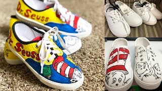 DIY - DR. SEUSS HAND-PAINTED SHOES