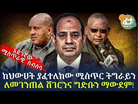 አደገኛው ሚስጥራዊ  ስብሰባ - ከህውሀት ያፈተለከው ሚስጥር ትግራይን ለመገንጠል ሸገርንና ግድቡን ማውደም! | Ethiopia