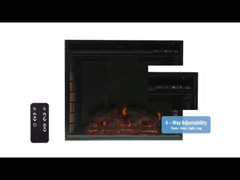 Southern Enterprises Elkmont Electric Fireplace - Salem Antique Oak